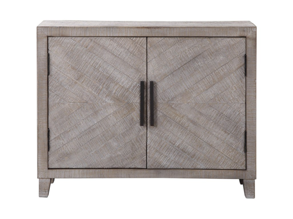 Uttermost Accent Furniture - ChestsAdalind White Washed Accent Cabine