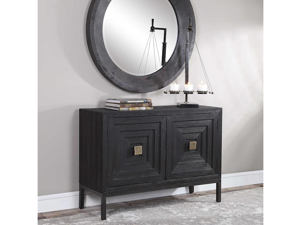 Uttermost Accent Furniture - ChestsAiken Dark Walnut 2-Door Cabinet