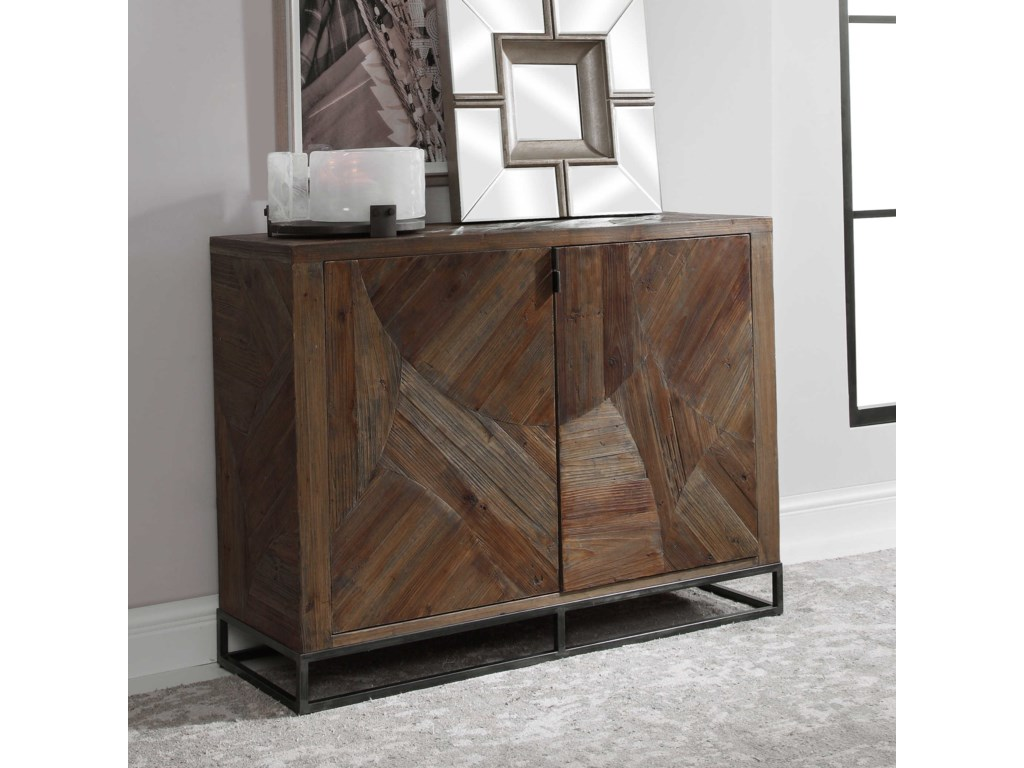 Uttermost Accent Furniture - ChestsEvros Reclaimed Wood 2-Door Cabinet