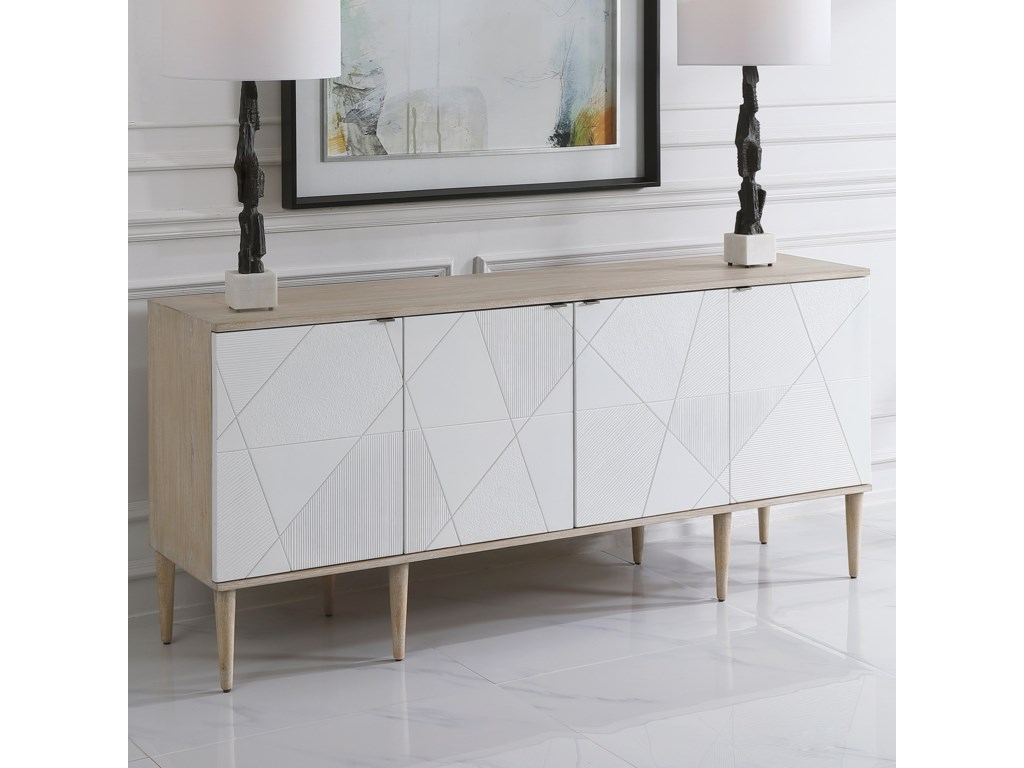 Uttermost Accent Furniture - ChestsTightrope 4-Door Modern Sideboard Cabinet