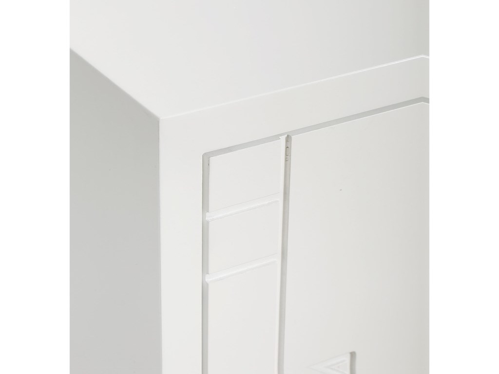 Uttermost Accent Furniture - ChestsStockholm White 2-Door Cabinet