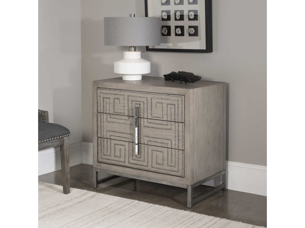 Uttermost Accent Furniture - ChestsDevya Gray Oak Accent Chest