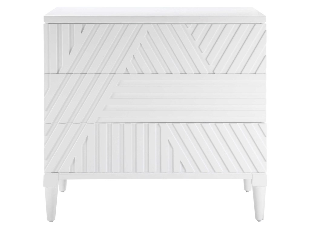 Uttermost Accent Furniture - ChestsColby White Drawer Chest