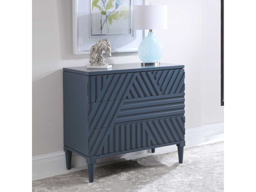 Uttermost Accent Furniture - ChestsColby Blue Drawer Chest