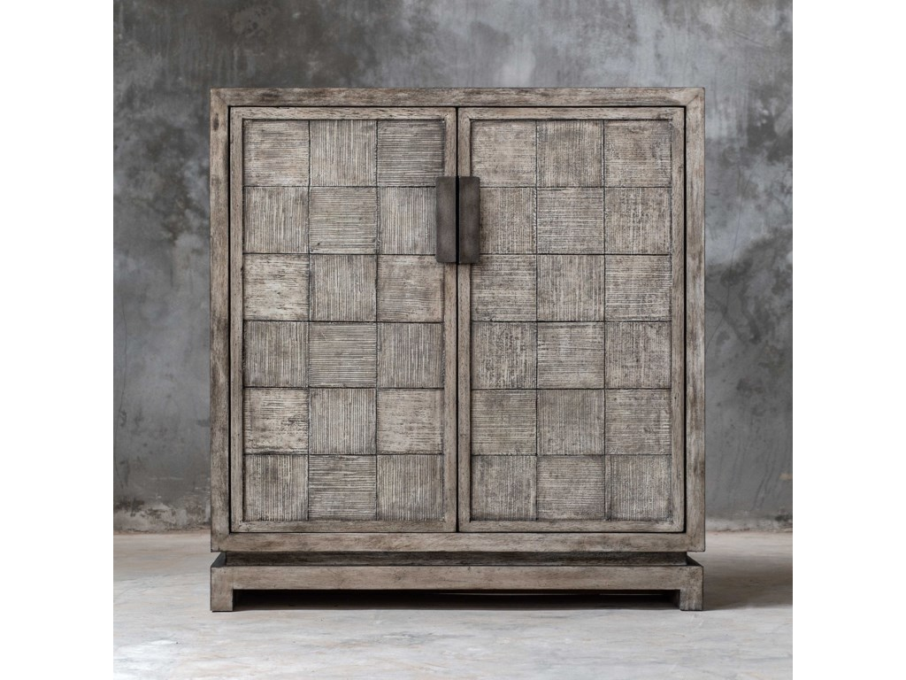 Uttermost Accent Furniture - ChestsHamadi Distressed Gray 2-Door Cabinet