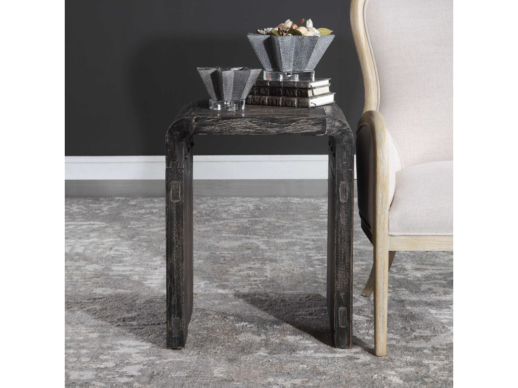 Uttermost Accent Furniture - Occasional TablesElvin Minimalist Side Table