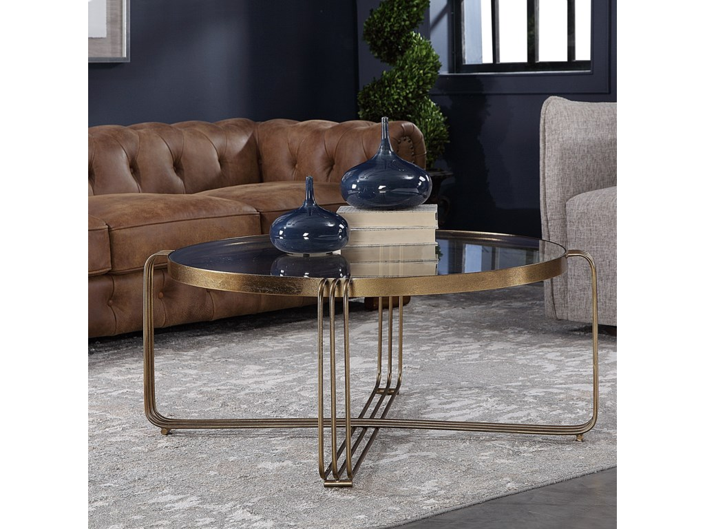 Uttermost Accent Furniture - Occasional TablesHilde Bronze Coffee Table