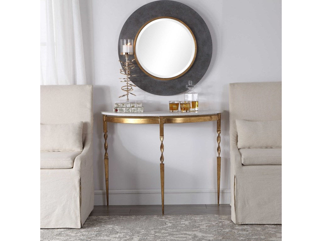 Uttermost Accent Furniture - Occasional TablesImelda Demilune Console Table