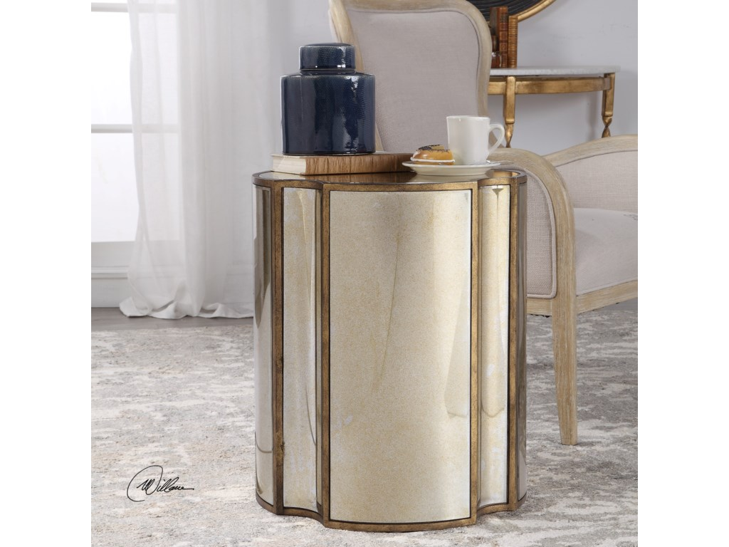 Uttermost Accent Furniture - Occasional TablesHarlow Mirrored Accent Table