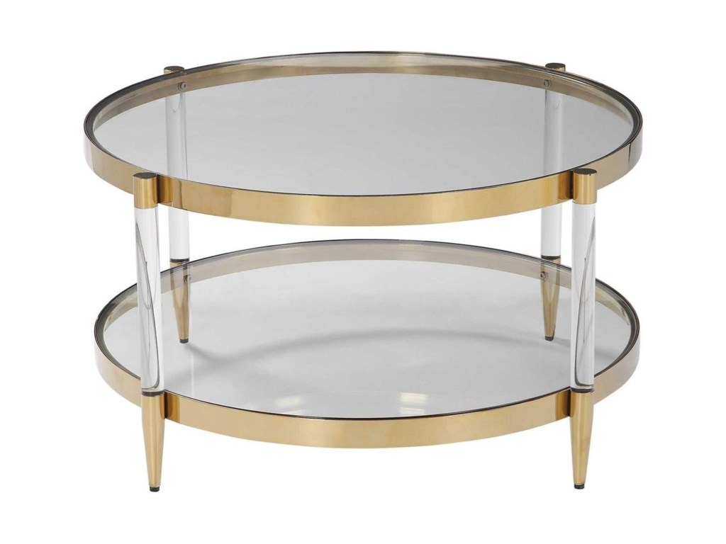 Uttermost Accent Furniture - Occasional TablesKellen Glass Coffee Table