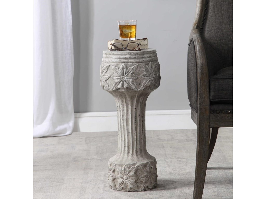 Uttermost Accent Furniture - Occasional TablesCapistrano Concrete Drink Table