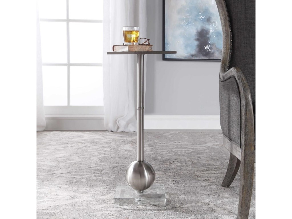 Uttermost Accent Furniture - Occasional TablesLaton Silver Accent Table