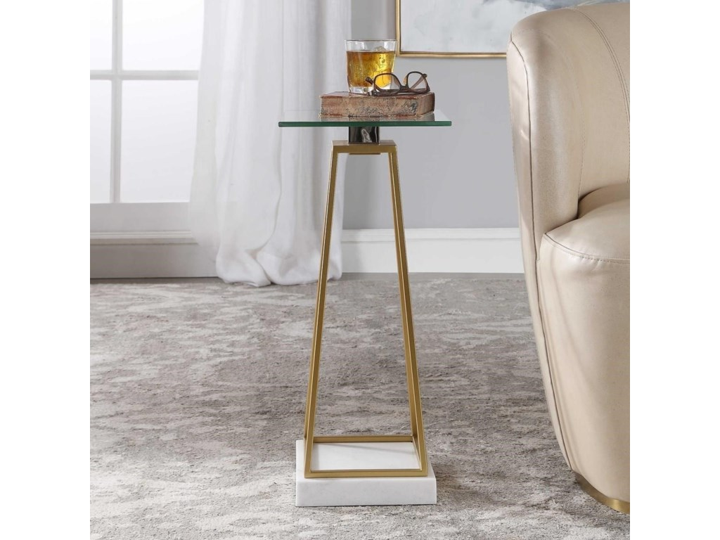 Uttermost Accent Furniture - Occasional TablesMackean Modern Drink Table