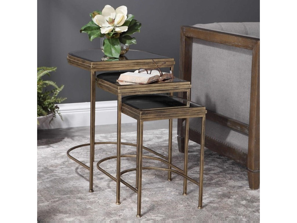 Uttermost Accent Furniture - Occasional TablesIndia Nesting Tables, Set/3