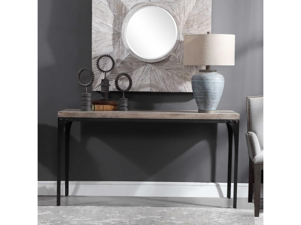 Uttermost Accent Furniture - Occasional TablesBlaylock Industrial Console Table