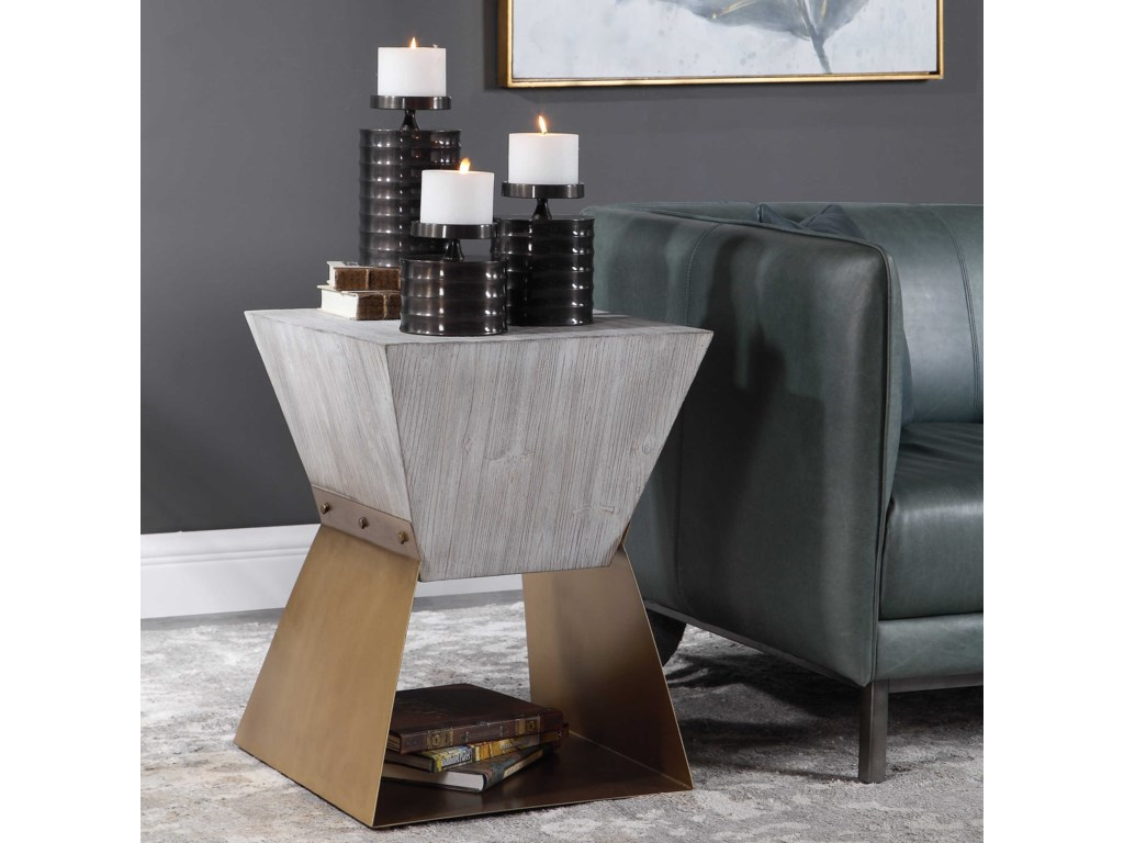 Uttermost Accent Furniture - Occasional TablesJoplin Gray Accent Table