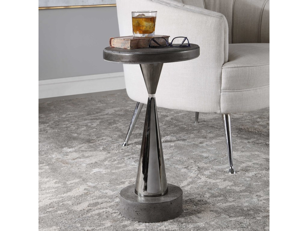 Uttermost Accent Furniture - Occasional TablesSimons Concrete Accent Table