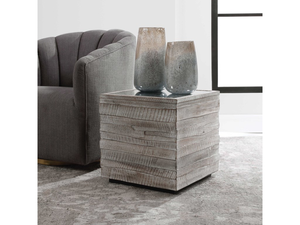 Uttermost Accent Furniture - Occasional TablesMessinia Cube Table