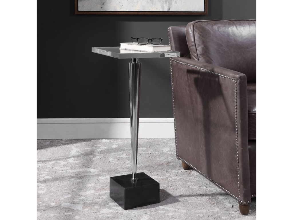 Uttermost Accent Furniture - Occasional TablesCampeiro Nickel Drink Table