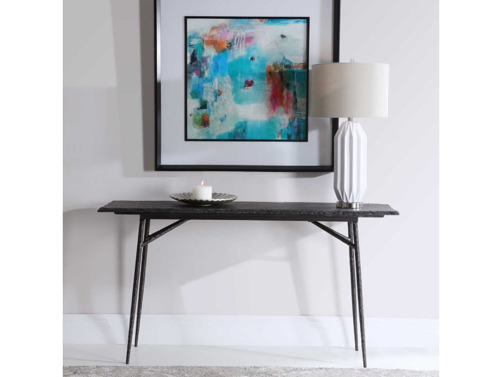 Uttermost Accent Furniture - Occasional TablesKaduna Slate Console Table