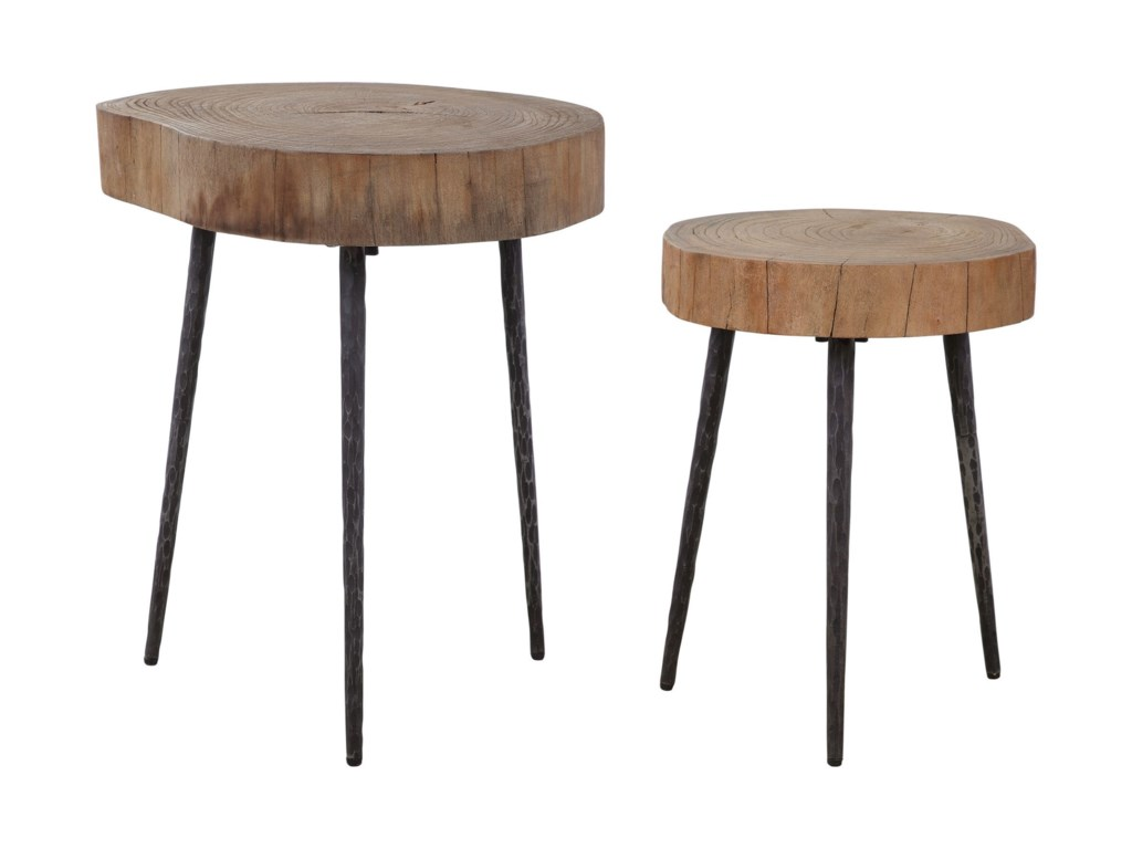 Uttermost Accent Furniture - Occasional TablesSamba Wood Nesting Tables S/2