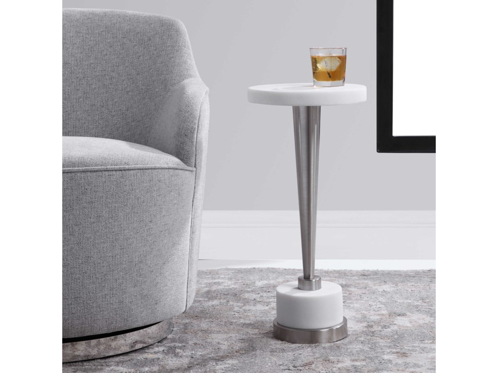 Uttermost Accent Furniture - Occasional TablesMasika White Drink Table