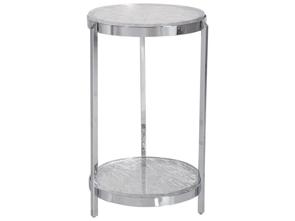 Uttermost Accent Furniture - Occasional TablesClarence Textured Glass Accent Table