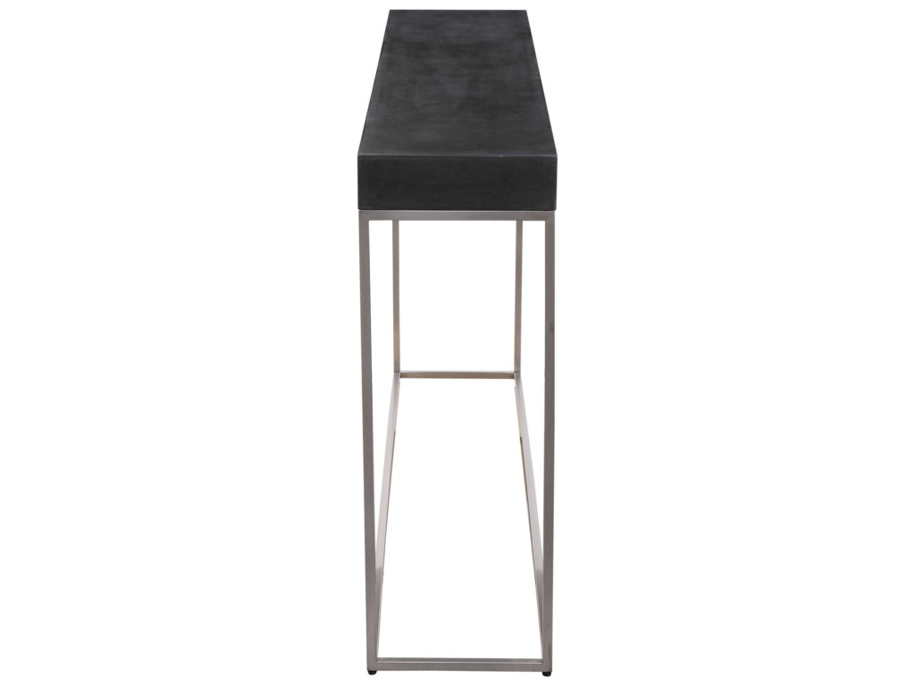 Uttermost Accent Furniture - Occasional TablesBlack Concrete Console Table