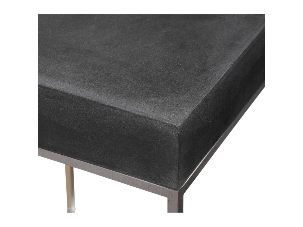 Uttermost Accent Furniture - Occasional TablesBlack Concrete Accent Table