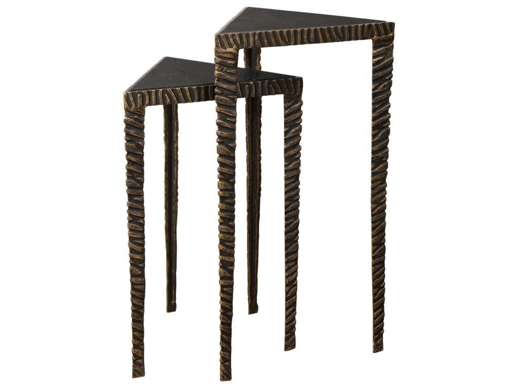 Uttermost Accent Furniture - Occasional TablesTriangular Accent Tables, S/2