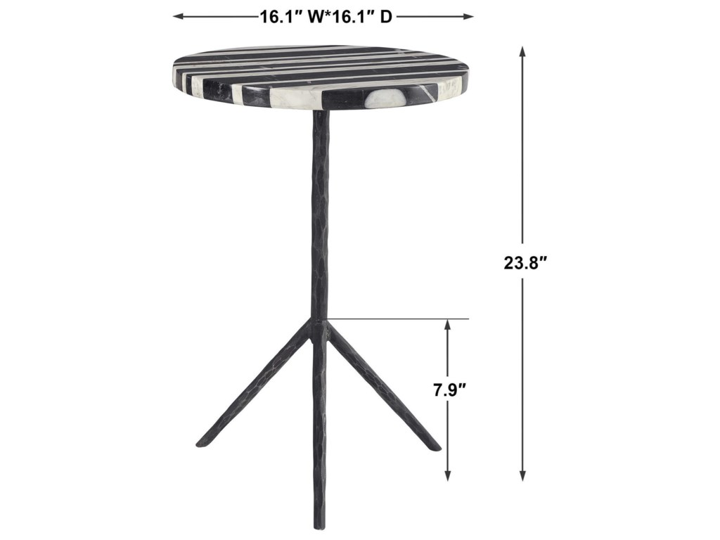 Uttermost Accent Furniture - Occasional TablesLine Round Accent Table