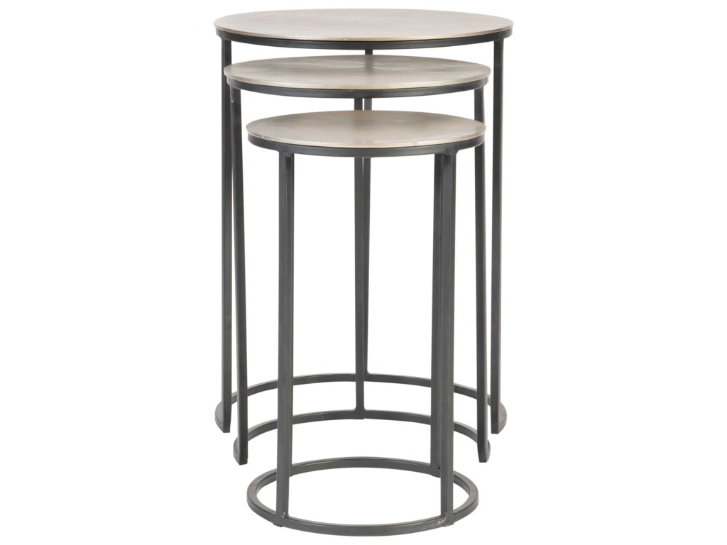 Uttermost Accent Furniture - Occasional TablesErik Metal Nesting Tables, S/3