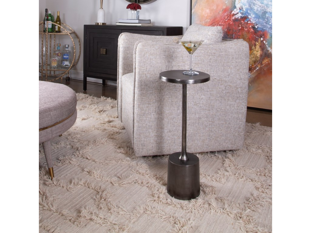 Uttermost Accent Furniture - Occasional TablesSanaga Drink Table Nickel