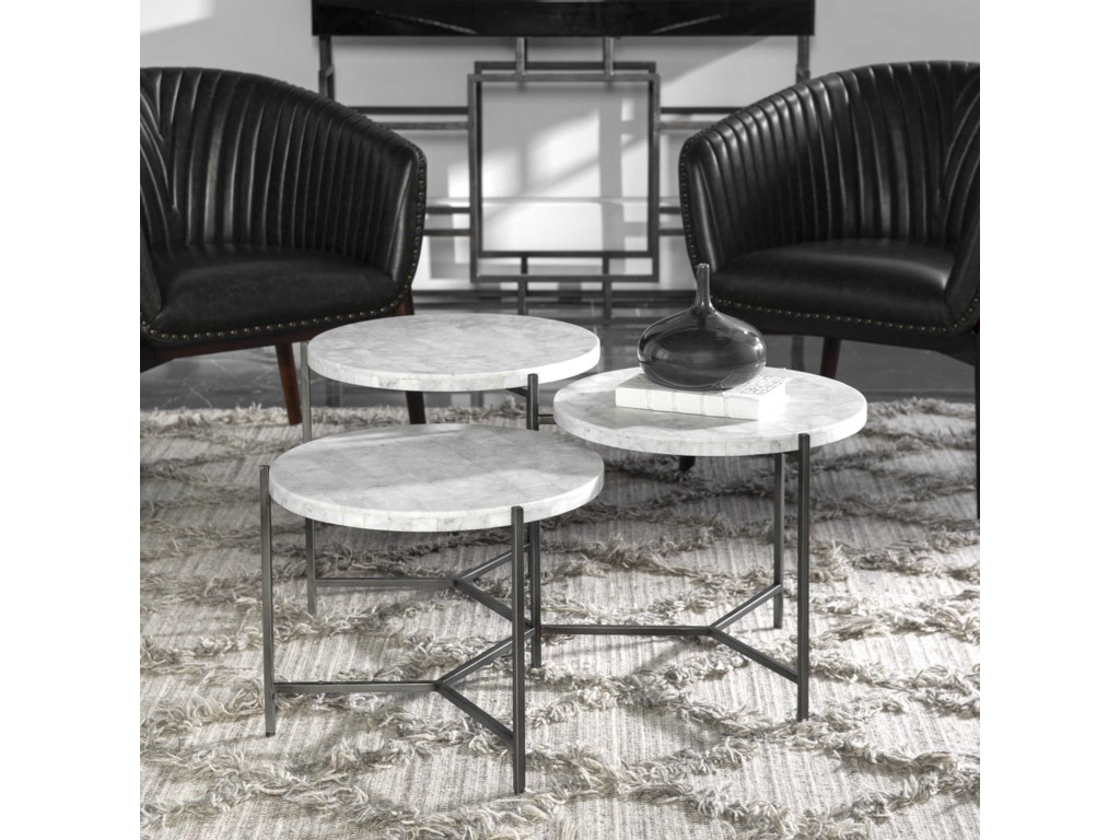 Uttermost Accent Furniture - Occasional TablesContarini Tiered Coffee Table