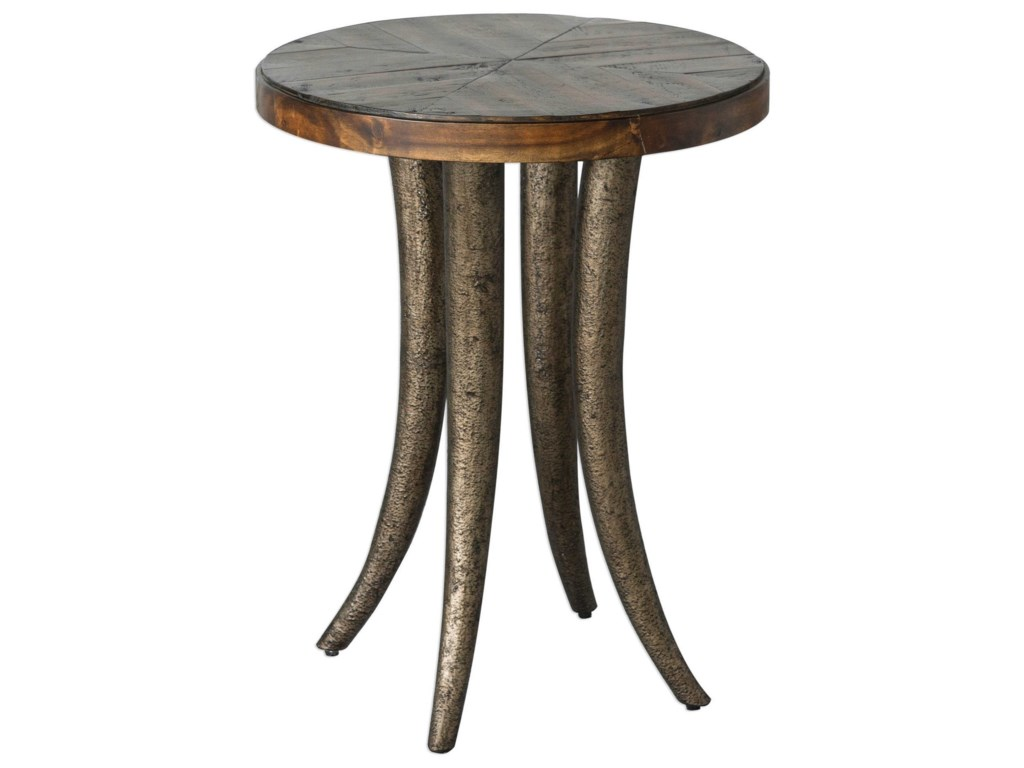 Uttermost Accent Furniture - Occasional TablesEzra Round Accent Table
