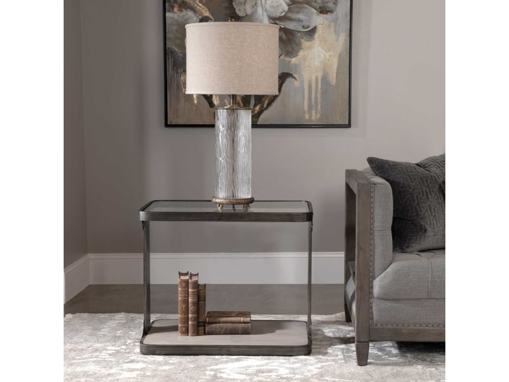 Uttermost Accent Furniture - Occasional TablesCompton Industrial Side Table