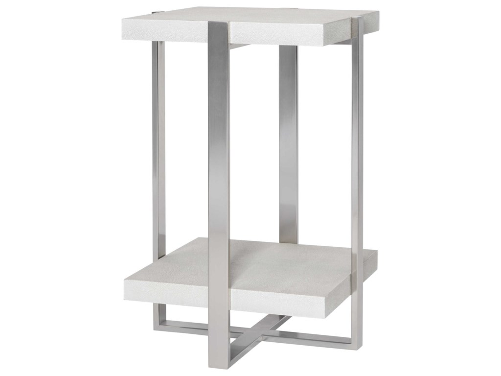 Uttermost Accent Furniture - Occasional TablesArnaut White Accent Table