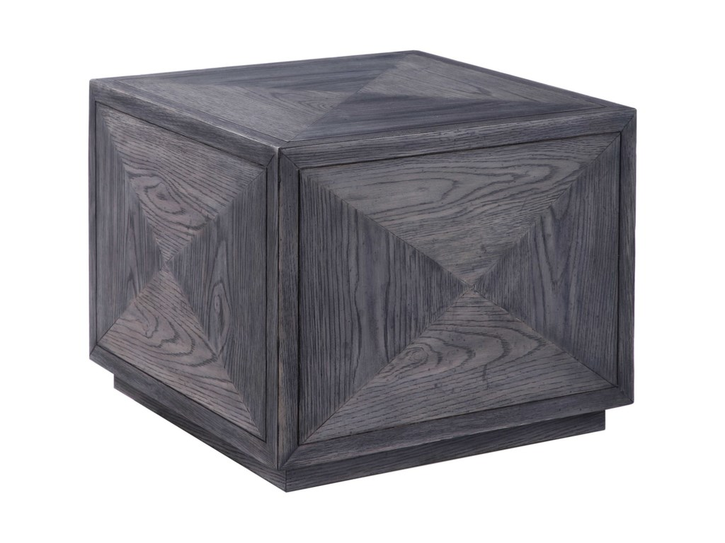 Uttermost Accent Furniture - Occasional TablesCurtley Wooden Cube Table