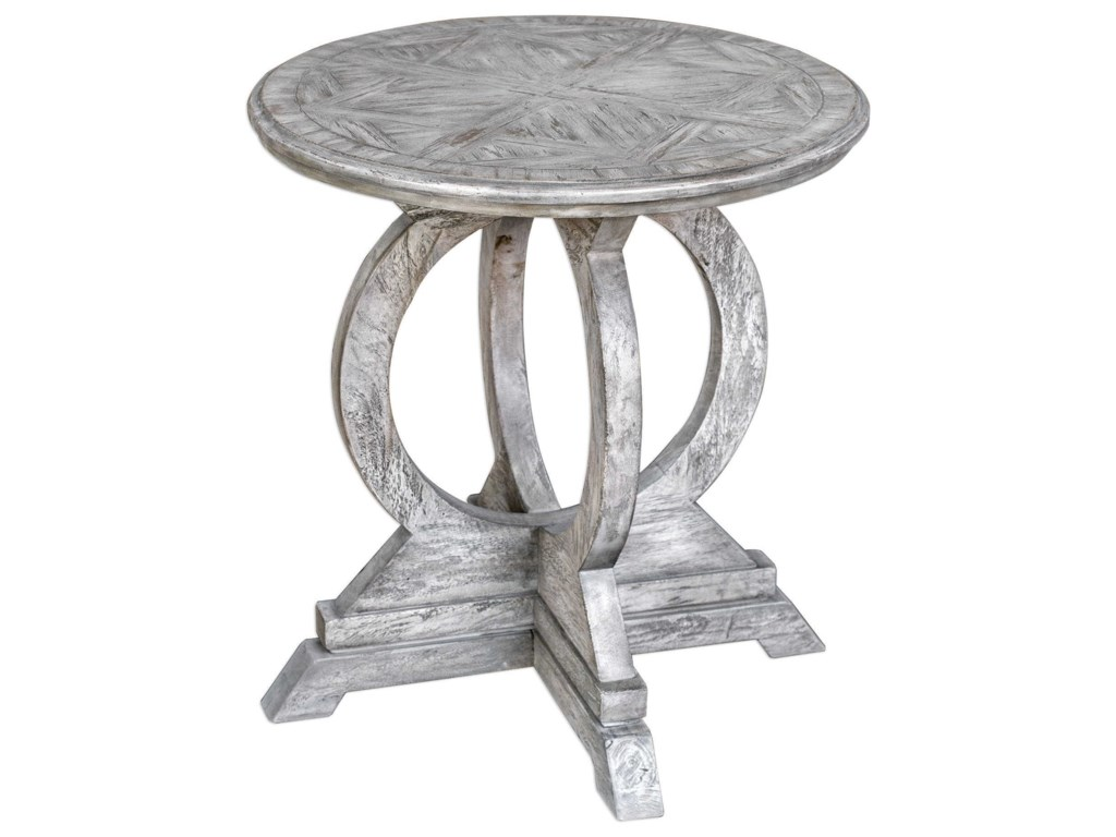 Uttermost Accent Furniture - Occasional TablesMaiva White Accent Table