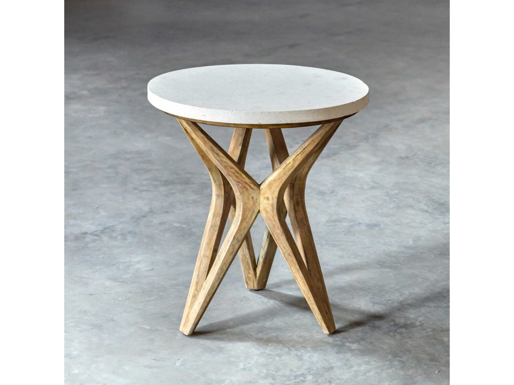 Uttermost Accent Furniture - Occasional TablesMarnie Limestone Accent Table