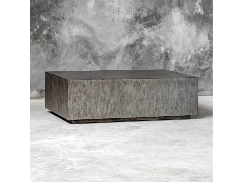 Uttermost Accent Furniture - Occasional TablesKareem Modern Gray Coffee Table