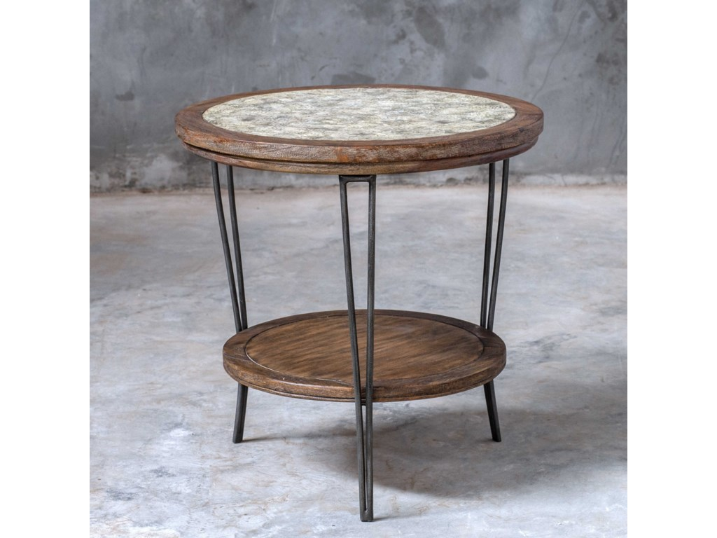Uttermost Accent Furniture - Occasional TablesSaskia Round Side Table