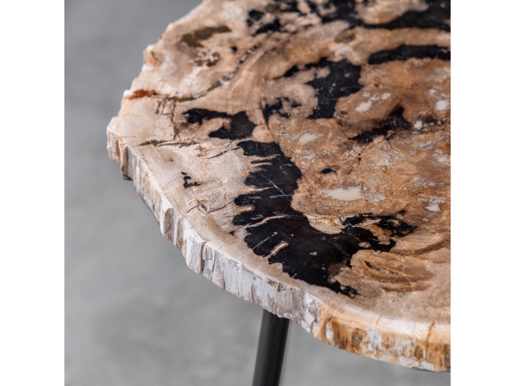 Uttermost Accent Furniture - Occasional TablesMircea Petrified Wood Accent Table