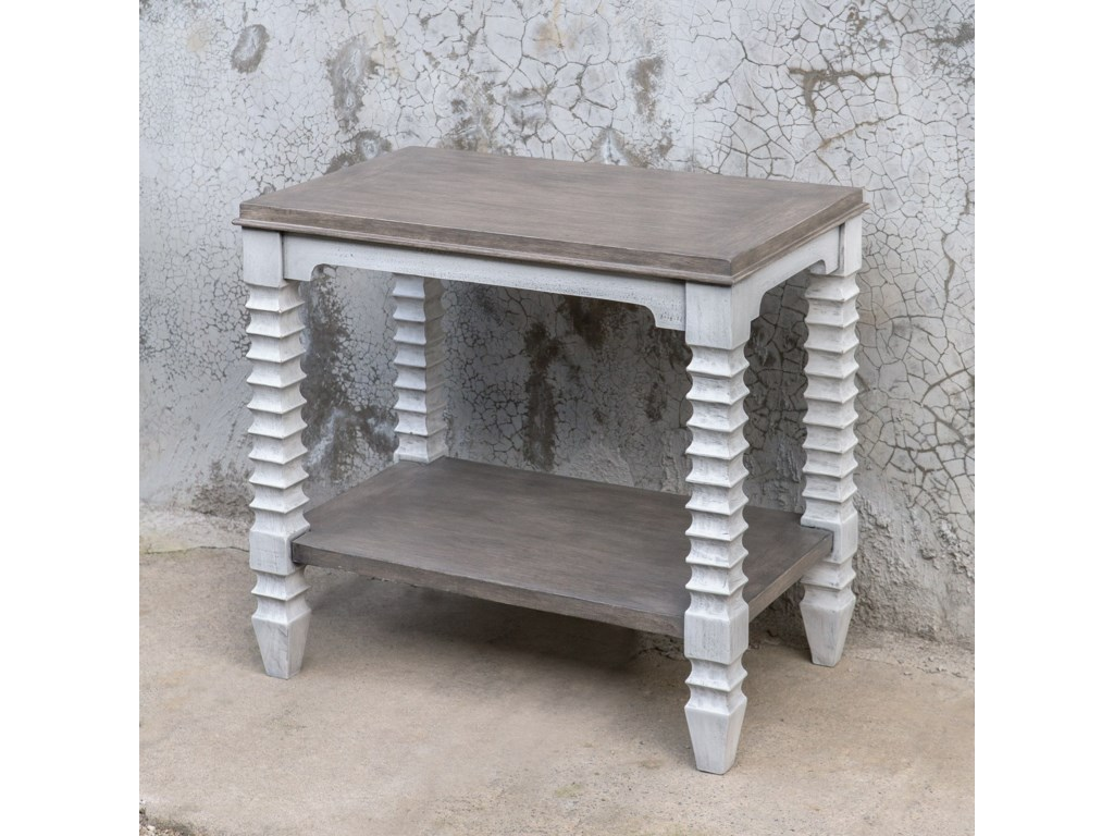 Uttermost Accent Furniture - Occasional TablesCalypso Farmhouse Side Table
