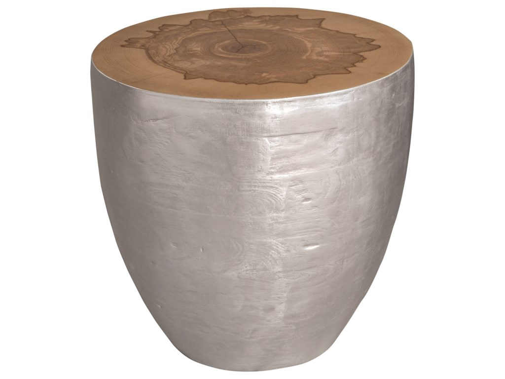Uttermost Accent Furniture - Occasional TablesGannett Silver Wood End Table