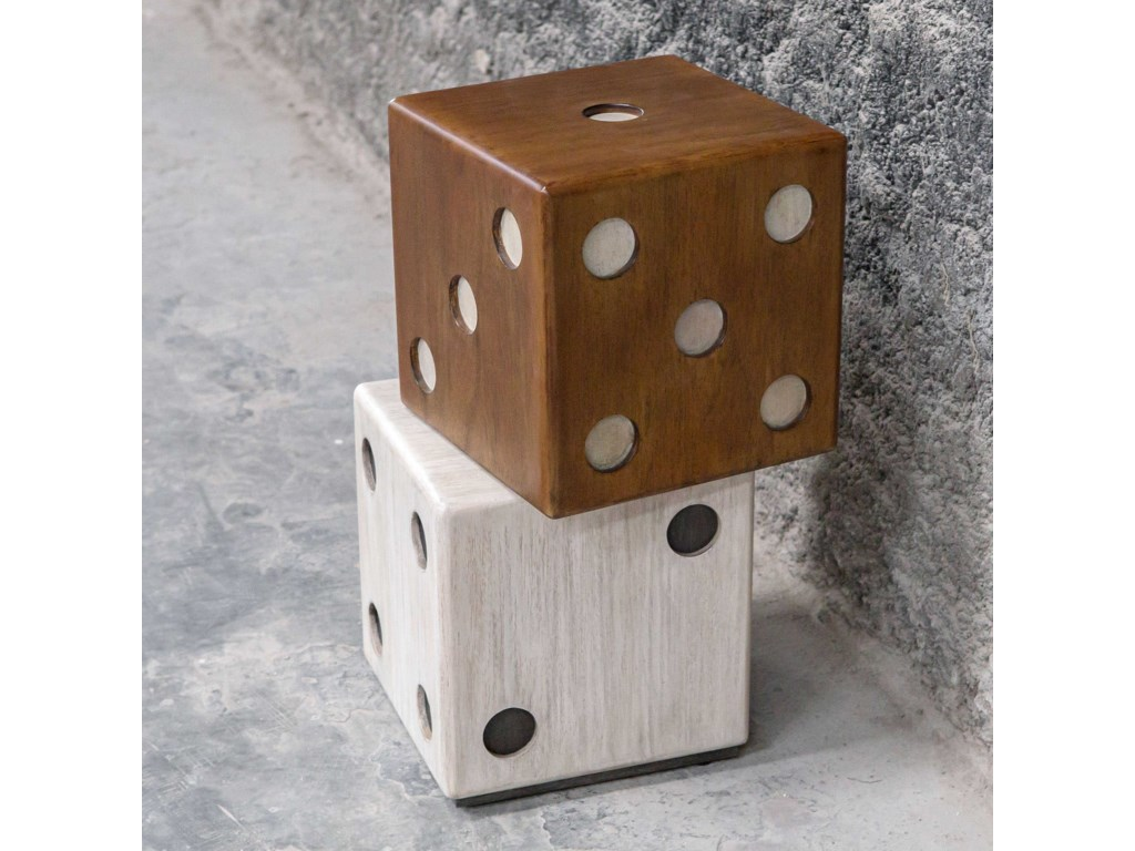 Uttermost Accent Furniture - Occasional TablesRoll The Dice Accent Table
