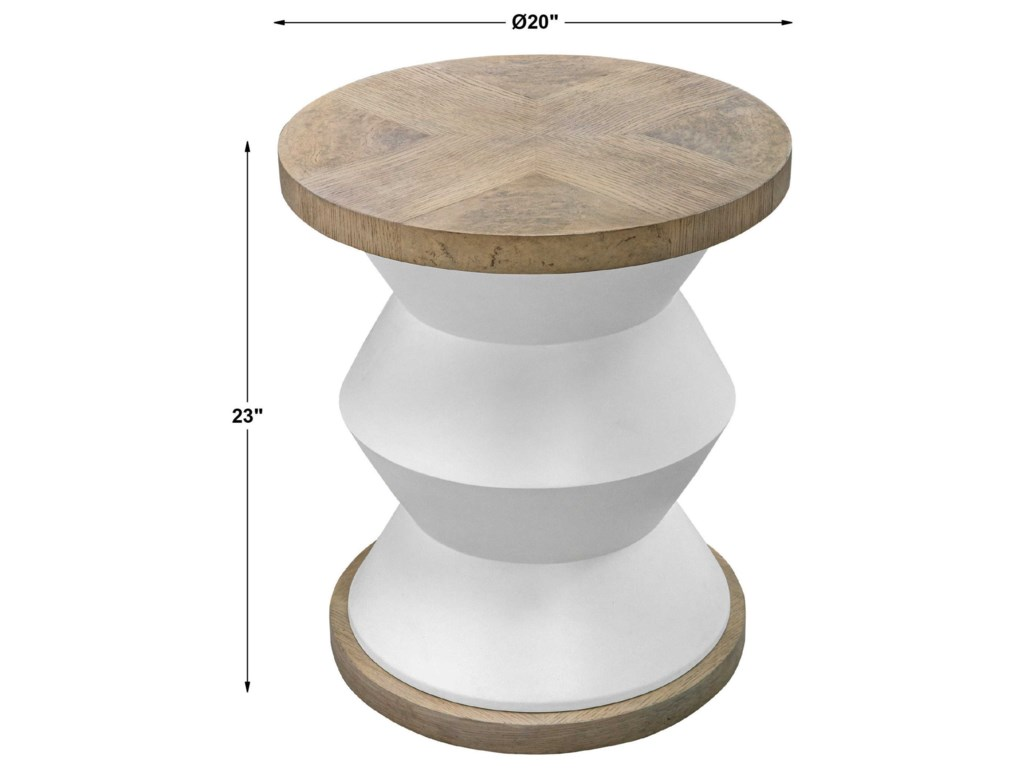 Uttermost Accent Furniture - Occasional TablesSpool Geometric Side Table