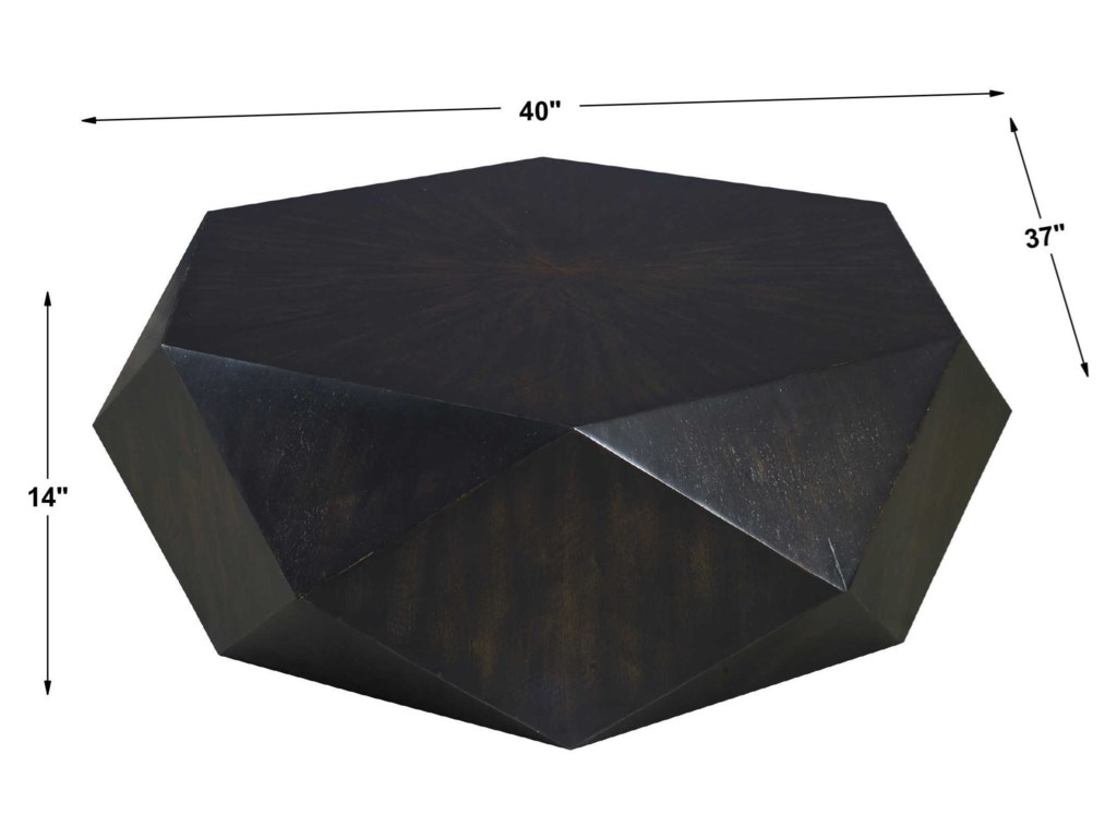 Uttermost Accent Furniture - Occasional TablesVolker Small Black Coffee Table