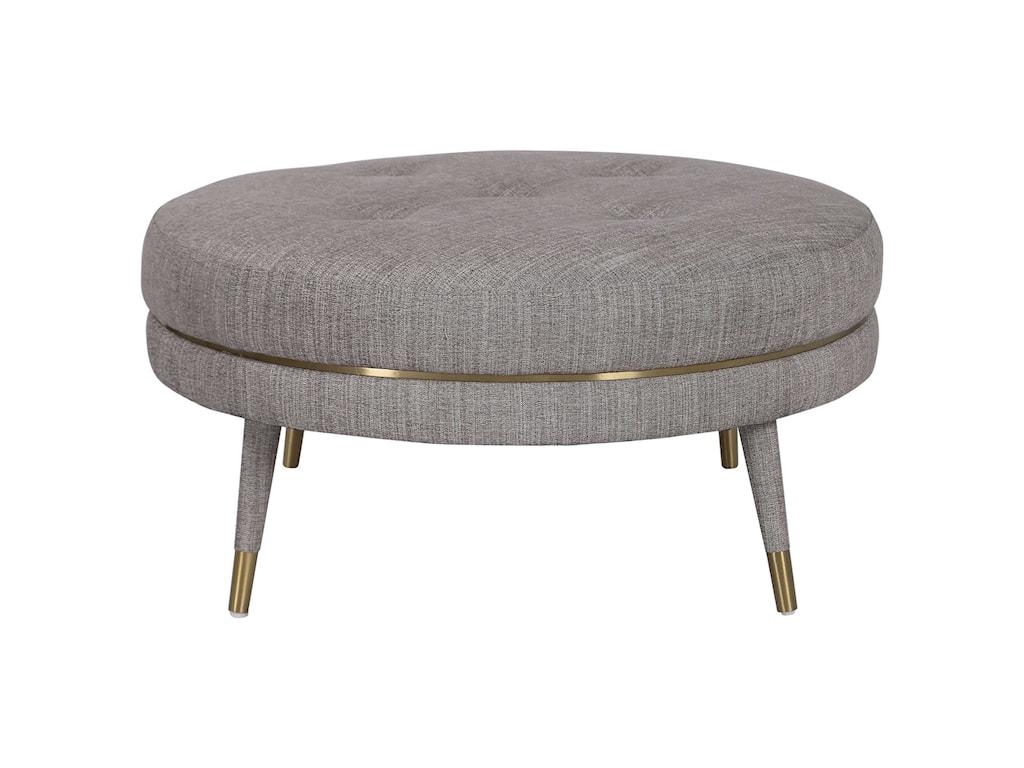 Uttermost Accent Furniture - OttomansBlake Modern Taupe Ottoman