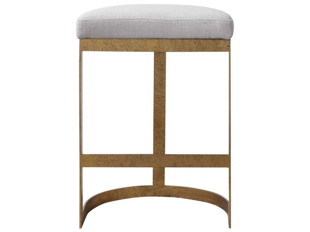 Uttermost Accent Furniture Stools Ivanna Modern Counter Stool